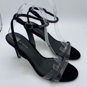 NEW Pelle Moda Roseli Suede  Heeled Sandals 8.5